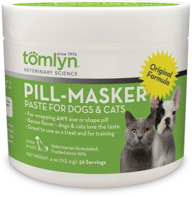 Tomlyn Pill-Masker for Dogs & Cats, Bacon Flavor, 4 oz.