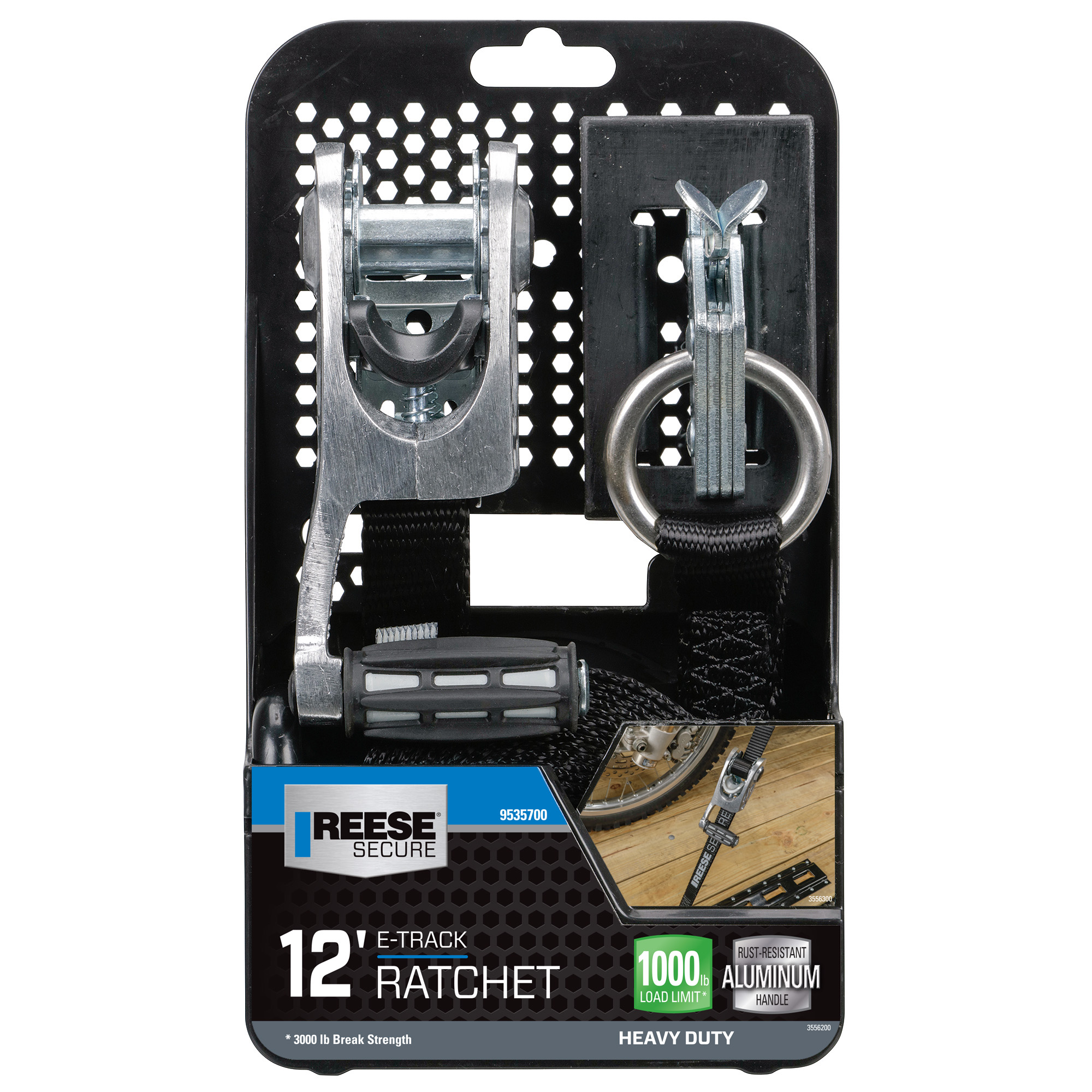 Reese E-track Max Grip Ratchet 1x12'