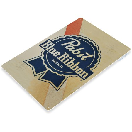 TIN SIGN Pabst Blue Ribbon Old Beer Metal Art Store Pub Brew Shop Bar Pub - Fine Beer Pub Sign