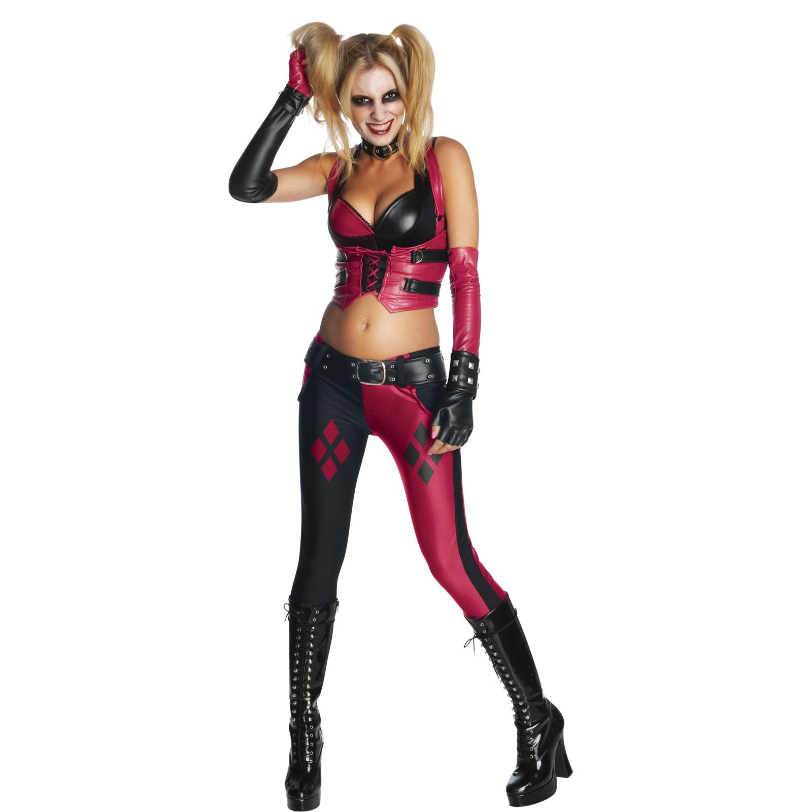 Women's Batman Arkham City Harley Quinn Adult Halloween Costume ...