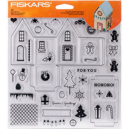 """Fiskars Clear Stamps 8""""X8""""-Tiny Little Gingerbread House - image 1 of 1"""