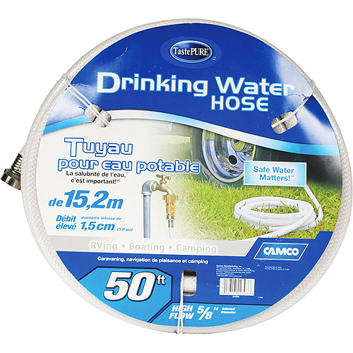 Heavy-duty Camco 50-foot Fresh Water Hose for RVs