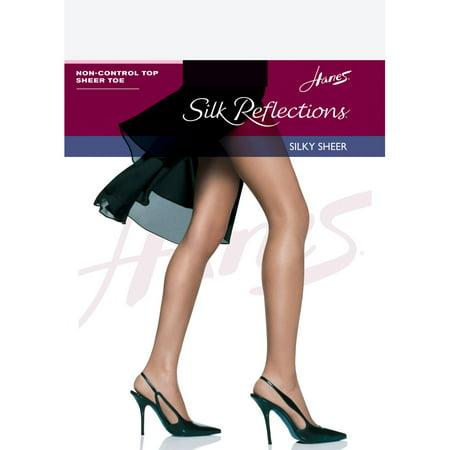 Hanes Silk Reflections Women`s Non-Control Top Sheer Toe Pantyhose