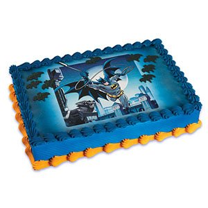 Batman Edible Birthday Cake Topper - Birthday Cake Letters