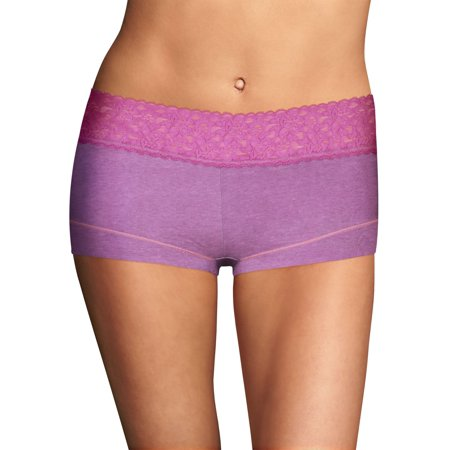 9aeaab82fc8e Maidenform - Maidenform Cotton Dream Womens Boyshort With Lace -  Best-Seller, 8 - Walmart.com