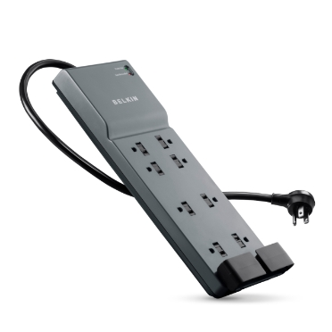 Belkin 8-Outlet Home/Office Surge Protector with telephone protection, 6 ft. Cord