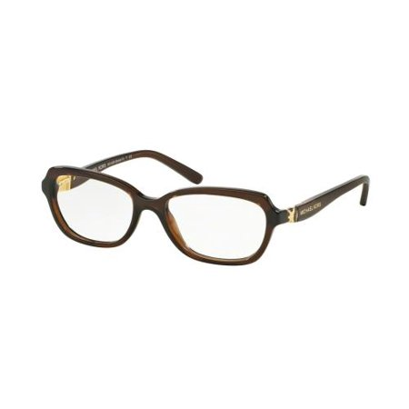 MICHAEL KORS Eyeglasses MK 4025 3085 Dark Brown Transparent 49MM