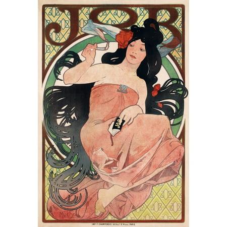 Vintage Advertising Paper - JOB Cigarette Papers 1898 Vintage Advertising Canvas Art -  (18 x 24)