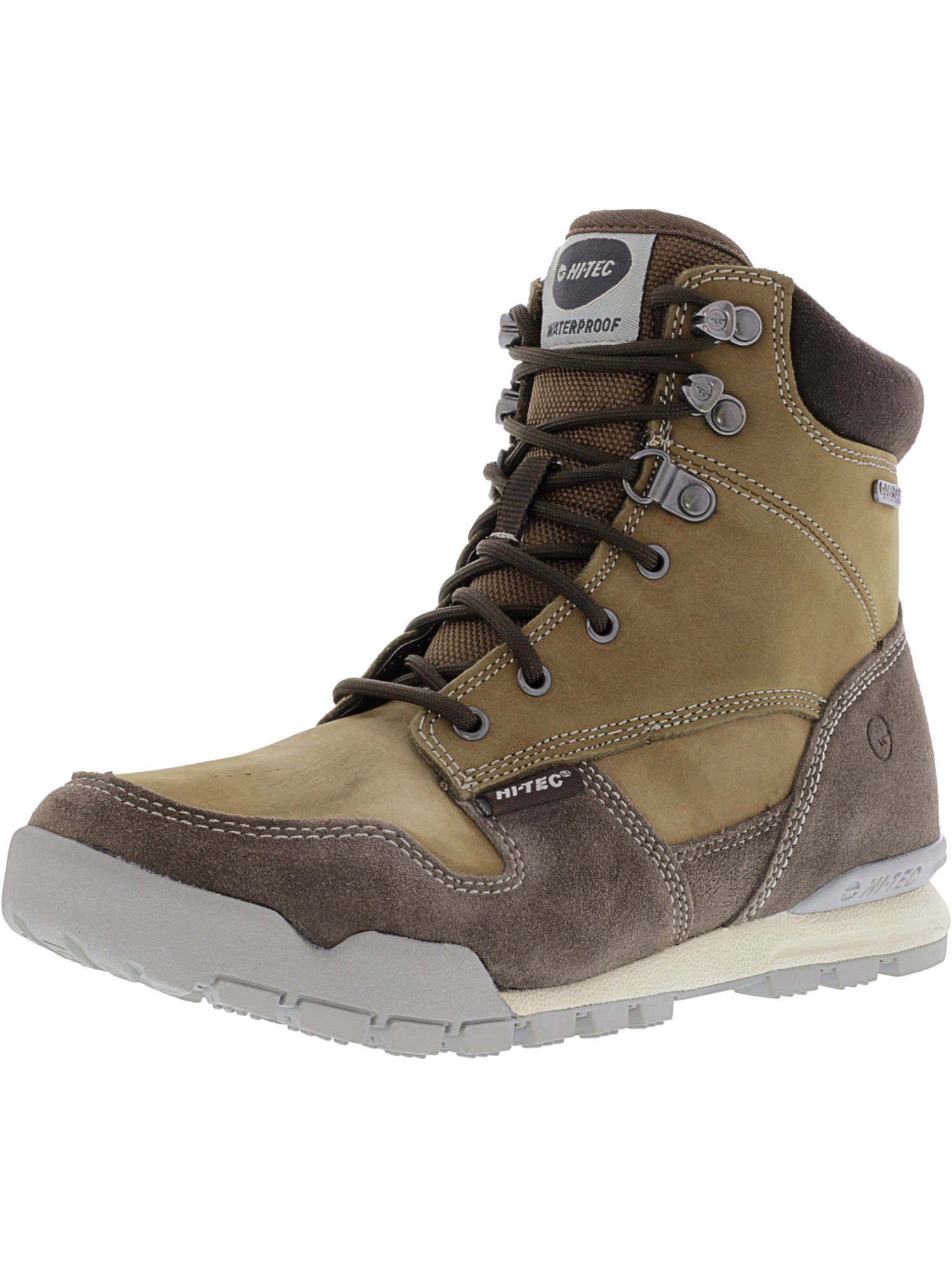 Hi-Tec Women's Sierra Tarma I Waterproof Brown   Cool Grey High-Top Leather Hiking Boot 6M by Hi-Tec