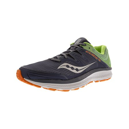 49f82583 Saucony Women's Guide Iso Grey / Mint Orange Ankle-High Mesh Running Shoe -  8.5M