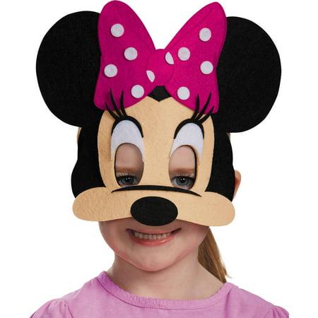 Pink Minnie Mouse Felt Mask Child Halloween Accessory - Halloween Makeup Tutorial Princess