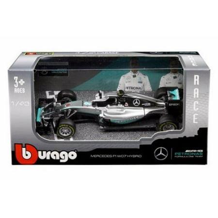 Williams F1 Team Collection (BBURAGO 1:43 RACE - AMG PETRONAS FORMULA ONE TEAM - MERCEDES F1 W07 HYBRID - NICO ROSBERG #6 DIECAST TOY CAR 18-38026NR)