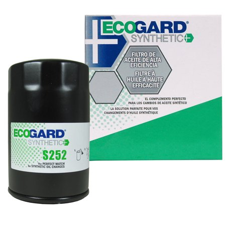 2002 Golf Cabriolet (ECOGARD S252 Spin-On Engine Oil Filter for Synthetic Oil - Premium Replacement Fits Volkswagen Jetta, Beetle, Golf, Cabrio, Passat, Vanagon, Cabriolet, Rabbit, Scirocco, Fox,)
