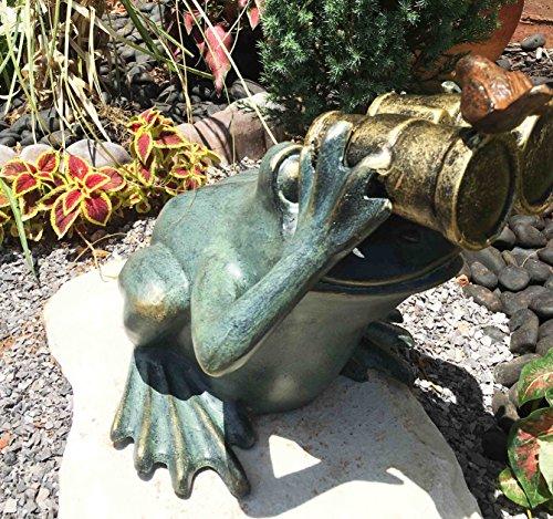 Gifts Decor Verdi Green Aluminum Bluebird Buddy Frog With Binoculars Garden Statue 13 5 Tall Walmart Com Walmart Com