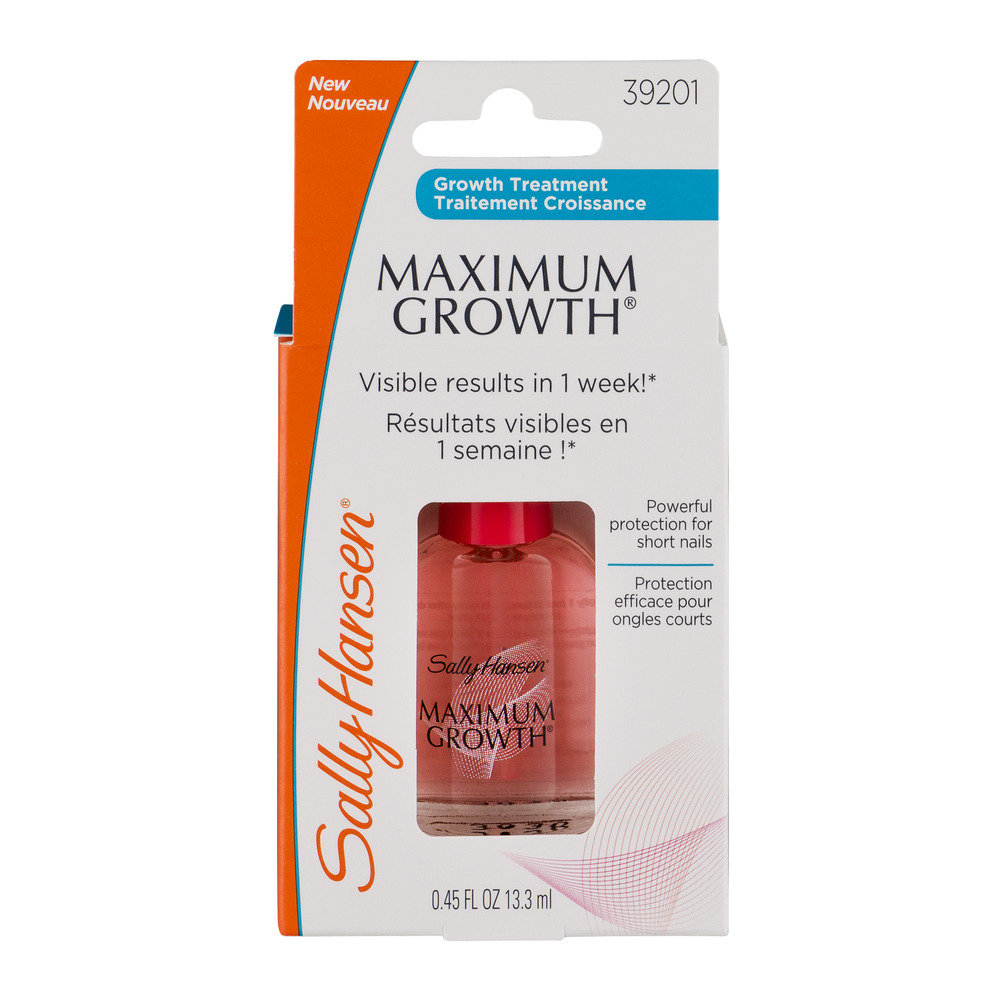 Sally Hansen Maximum Strength Nail Growth Treatment, Transparent Clear
