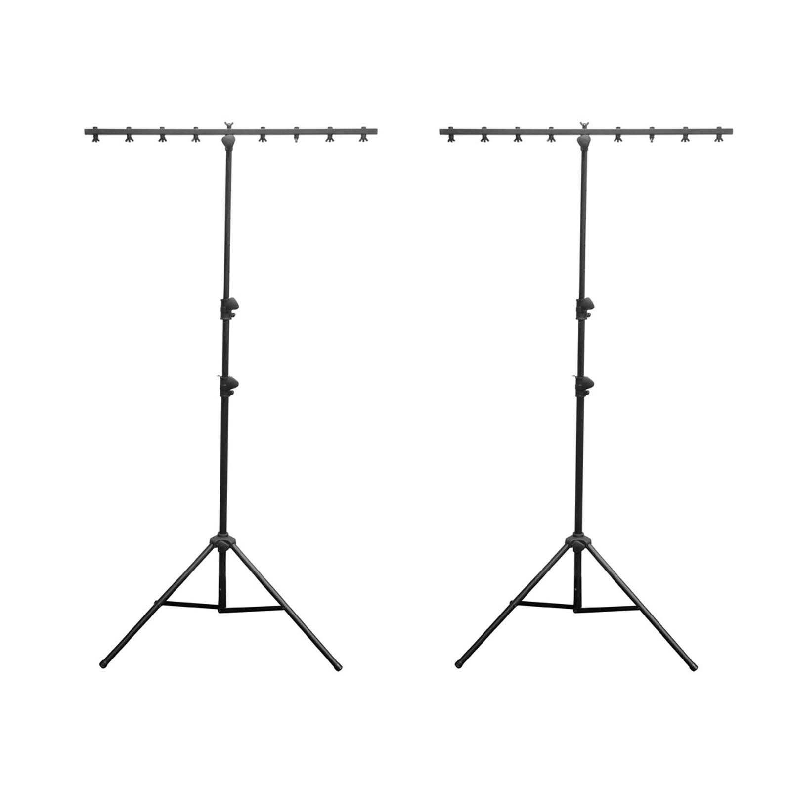 2) Chauvet DJ CH-06 Portable Lightweight Easy Setup T Bar Tripod Light Stands by Chauvet Dj