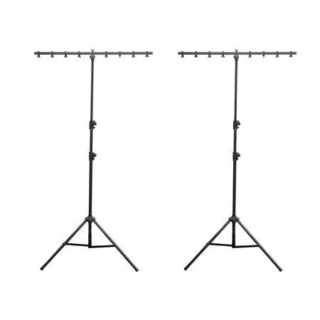 - 2) Chauvet DJ CH-06 Portable Lightweight Easy Setup T Bar Tripod Light Stands