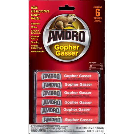 Amdro Gopher Gasser 6 Pack, fopr Control of Gophers, Moles and other Nusance Pests