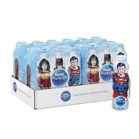 Nestle Pure Life Justice League Collection Purified Bottled Water, 11.15 fl oz. (Pack of (Best Bottled Water Review)