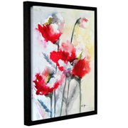 ArtWall Vibrant Poppies by Karin Johannesson Framed Painting Print on Wrapped Canvas