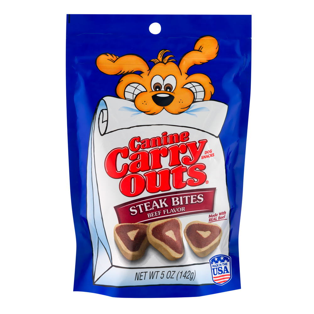 Canine Carry Outs Steak Bites Dog Snacks Beef Flavor, 5.0 OZ