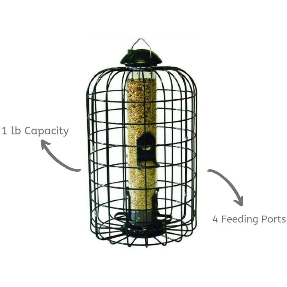 Stokes Select Ranch Hopper Bird Feeder 2 Feeding Ports Black