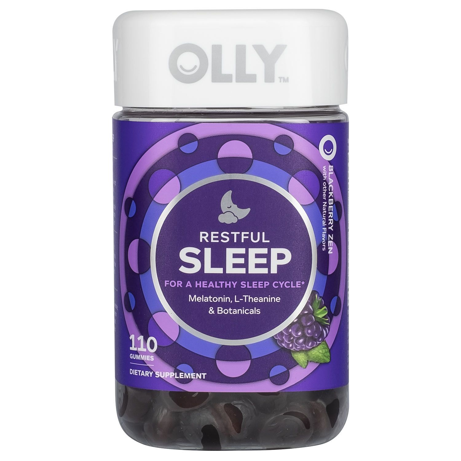 Olly Restful Sleep Gummies Blackberry Zen Sleep Gummies 110 Ct