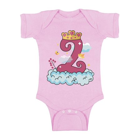 Awkward Styles Princess Baby Bodysuit Short Sleeve Girls Birthday Party Outfit Princess Birthday Party Princess One Piece Top for Baby Girl Princess Gifts for 2 Year Old Girl 2nd Birthday Outfit](Gifts For 2 Year Olds)