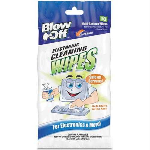 Max Professional 2610 Blow Off Electronic Cleaning Wipes 10 Pack - NEW