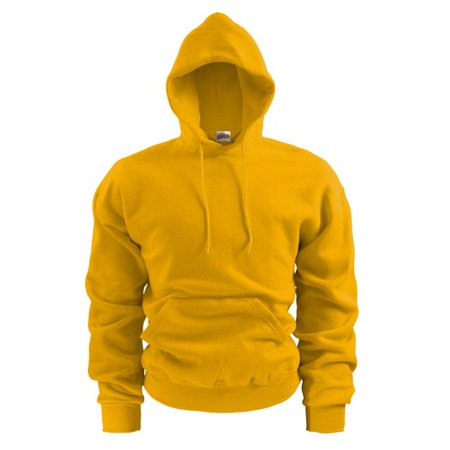 9 oz Mens Fleece Pullover Hoodie, Light Gold - Large - image 1 of 1