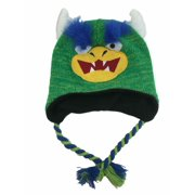 Aquarius Boys Blue Monster Hat Peruvian Style Critter Trapper