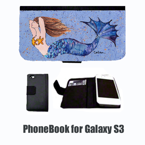 Mermaid Brunette Mermaid Cell Phonebook Cell Phone case Cover for GALAXY S3 8337