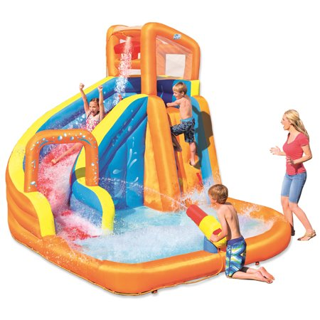 "H2OGO! 12' x 10'6"" x 8'10"" Turbo Splash Zone Mega Water Park"