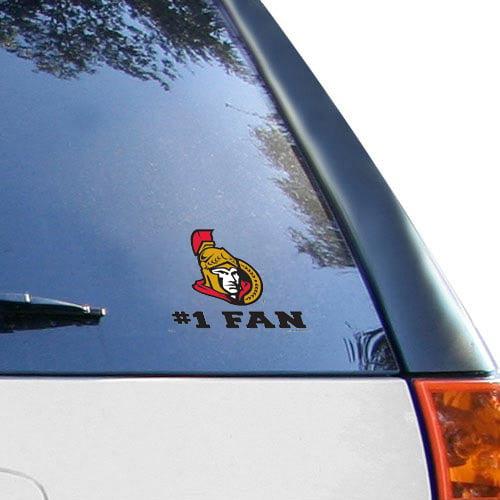 """Ottawa Senators WinCraft #1 Fan 3"""" x 4"""" Decal - No Size"""