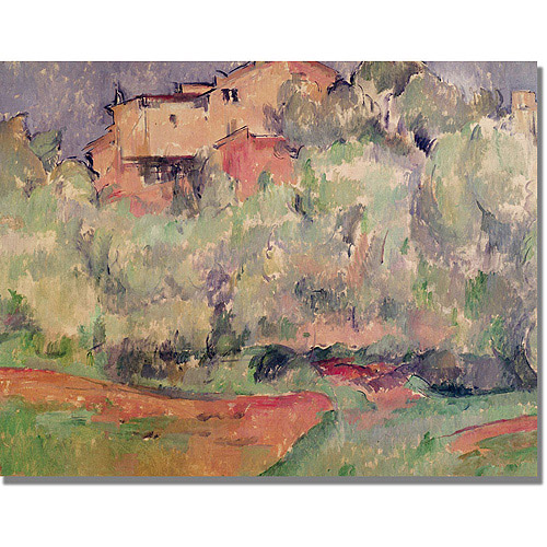 "Trademark Fine Art ""The House at Bellevue"" Canvas Art by Paul Cezanne"