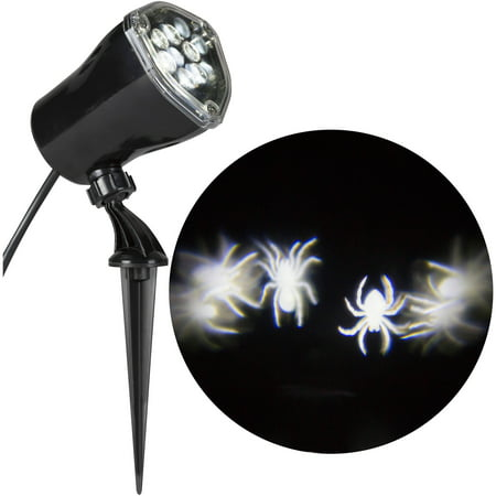 Lightshow Projection-Whirl-a-Motion-Spiders (White) by Gemmy Industries - Gemmy Halloween Life Size