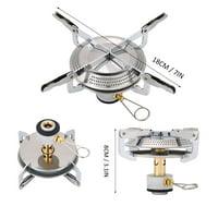 Fugacal Outdoor Titanium Alloy Portable Camping Mini Picnic Round Stove Burner , Stove Burner, Mini Stove
