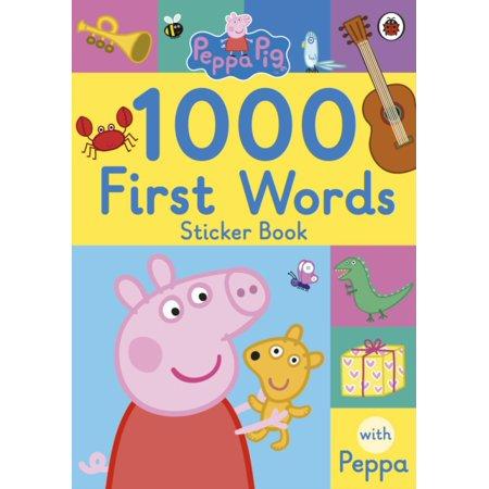 PEPPA PIG 1000 FIRST WORDS STICKER - 1000 Halloween Words