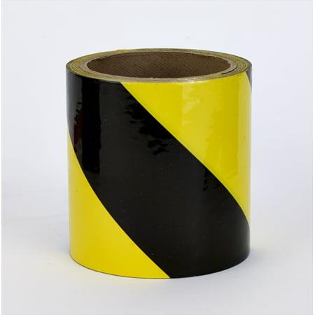 Pvc Vinyl Hazard Stripe Tape  7 Mil  3  X 18 Yd   Yellow Black Stripe  Pack Of 16