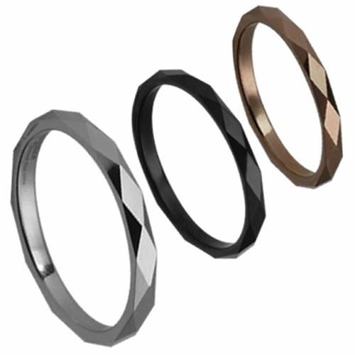 AAB Style GRTS-55R Tungsten Ring with Diamond Cuts - Rose
