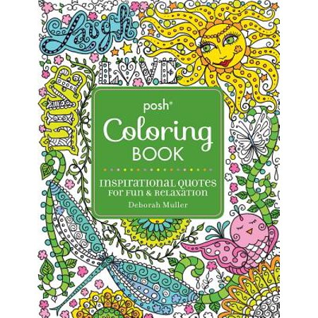 Posh Adult Coloring Book : Inspirational Quotes for Fun & Relaxation - Ready For Halloween Quotes