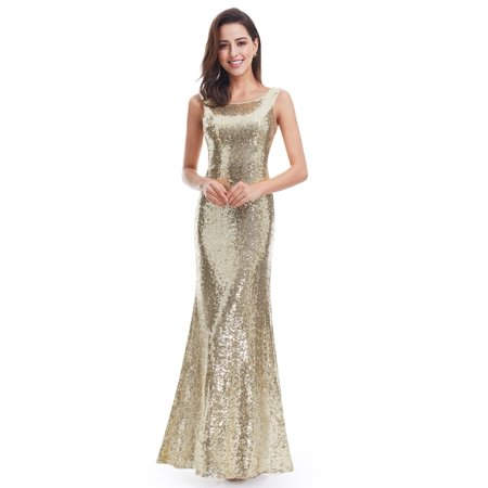 Ever-Pretty Womens Elegant Floor Length Sparkly Sequined Mermaid Evening Prom Ball Gown Gala Party Formal Dresses for Women 07110 US 4