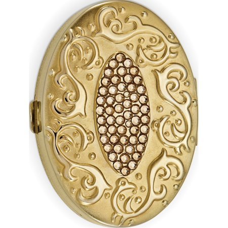 Crystals Designer Jewelry (Yellow Swarovski Crystal Pillbox Designer Jewelry by Sweet Pea )