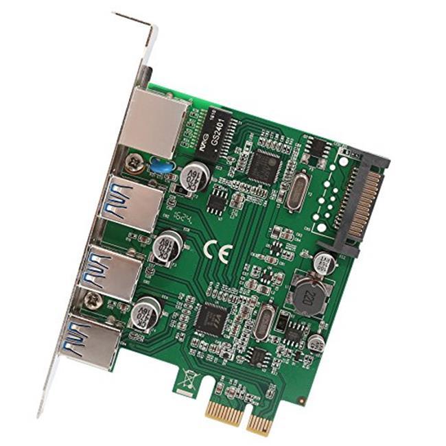 3 Port USB 3.1 Gen 1 And Gigabit Ethernet PCI-e 2.0 x1 Card