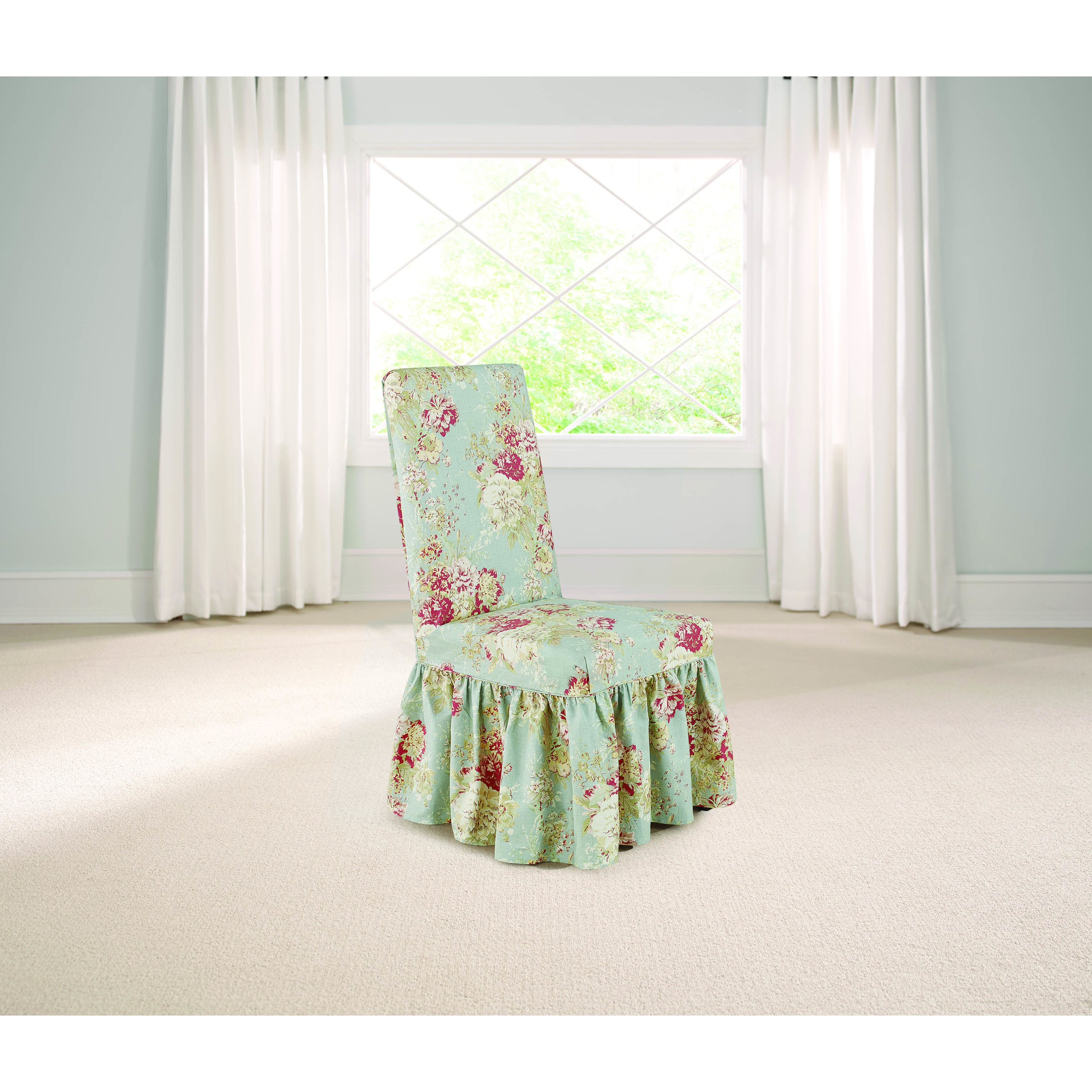 Sure Fit Waverly Ballad Bouquet Dining Room Chair ...