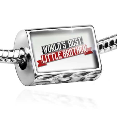 Bead Worlds Best Little Brother Charm Fits All European Bracelets for $<!---->