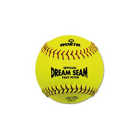 Worth ASA/NFHS 12 in. Dream Seam Fastpitch Softballs - 1 Dozen