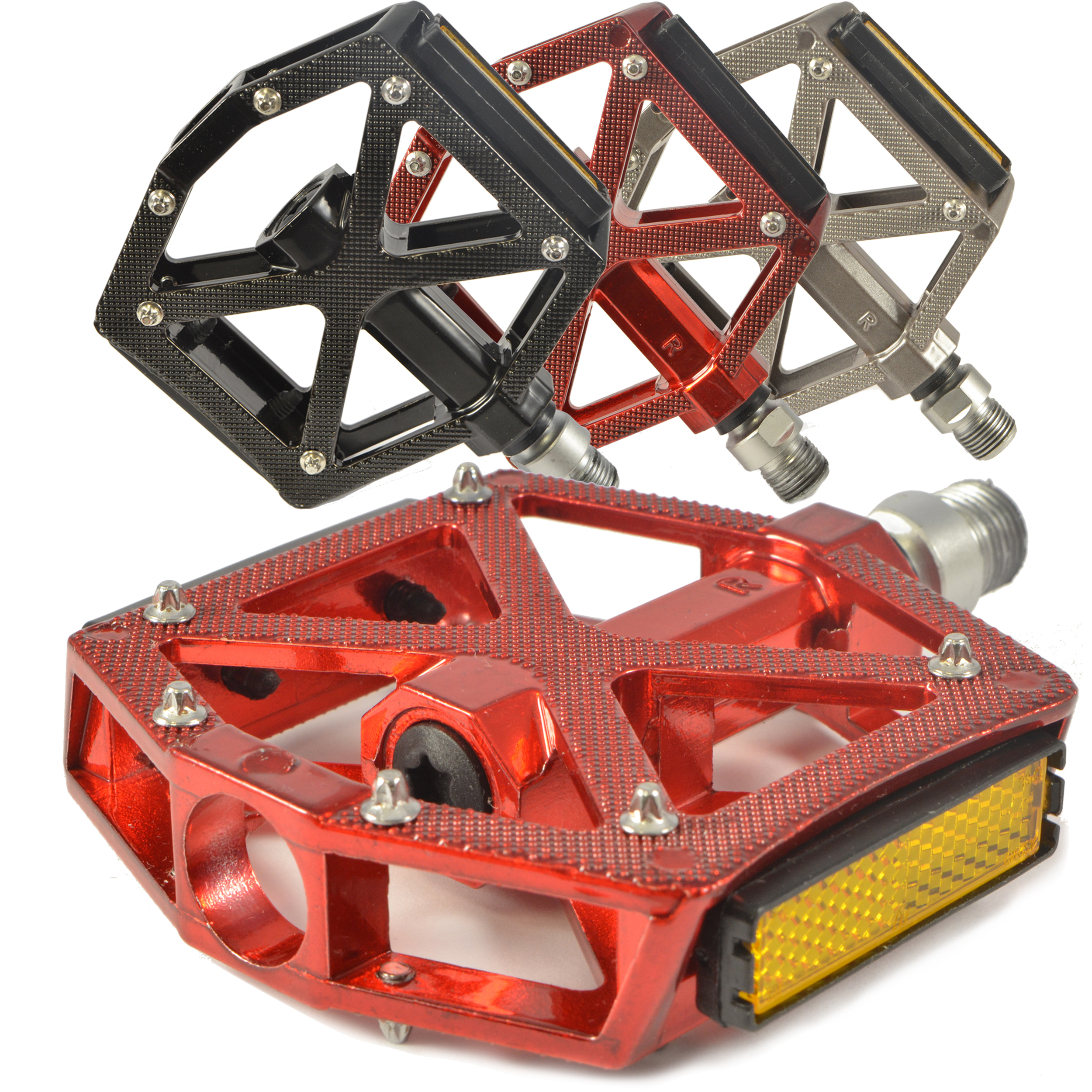 "Lumintrail PD-603S MTB BMX Road Mountain Bike Bicycle Platform Pedals Flat Alloy Sealed Bearing 9/16"" inch"