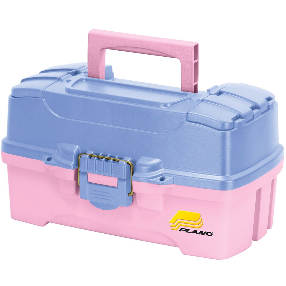 Plano Two-Tray Tackle Box with Dual Top Access, Pink Periwinkle by Plano