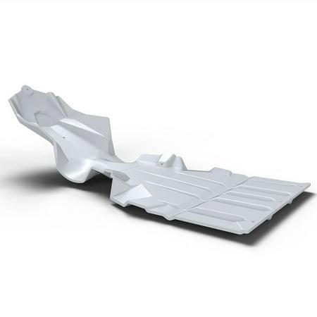 Polaris New OEM AXYS Ultimate Snowmobile Skid Plate, White, (Snowmobile Skid Plates)